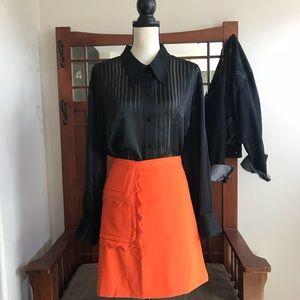 NWOT Victoria Beckham Scallop Pocket Skirt